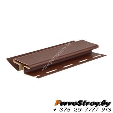 H-профиль (соеденительная планка) темно-коричневый  Гранд-лайн ( 3,05м ) - изображение 1