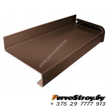 Отлив коричневый для винилового сайдинга  5см  ( 2 метра ) - изображение 1