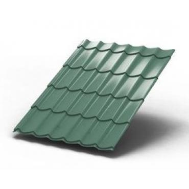 Металлочерепица Монтеррей Светло-зеленый металлик - изображение 1