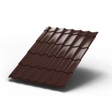 Металлочерепица Монтеррей Темно-коричневый - изображение 1