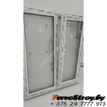 Окно двухстворчатое с поворотно-откидной створкой 1200*1000, 3 стекла - изображение 2