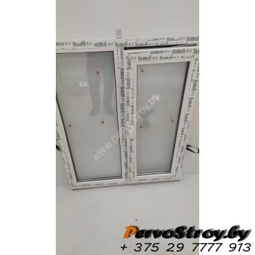 Окно двухстворчатое с поворотно-откидной створкой 1200*1000, 3 стекла - изображение 3
