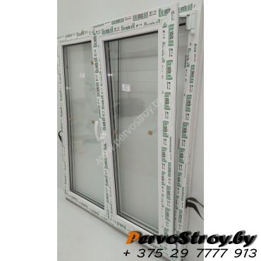 Окно двухстворчатое с поворотно-откидной створкой 1200*1000, 3 стекла - изображение 4