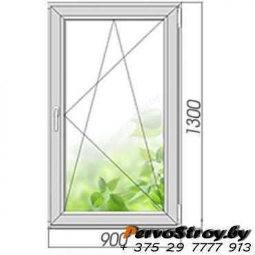 Окно поворотно-откидное 1300*900, 2 стекла. Элемент остекления - изображение 1
