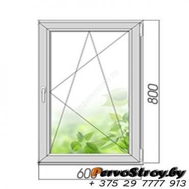 Окно поворотно-откидное 800*600, 2 стекла - изображение 1