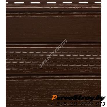 Софит коричневый с центральной перфорацией Гранд-лайн - изображение 1