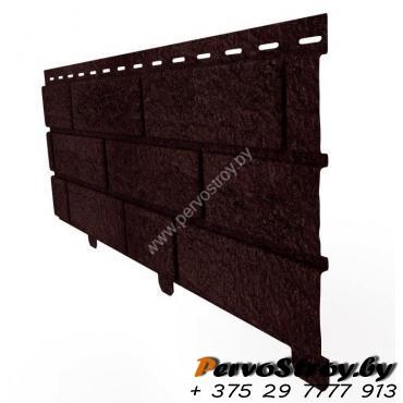 Сайдинг Стоун Хаус Кирпич коричневый - изображение 2