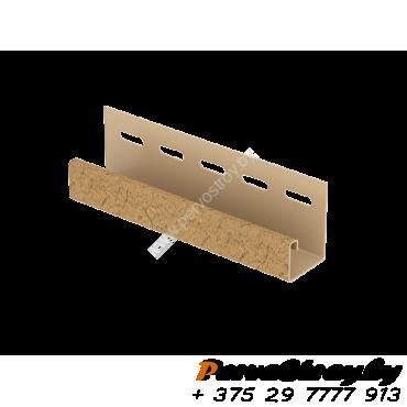 J-планка Ю-Пласт, S-Lock Клинкер Горчичный - изображение 1