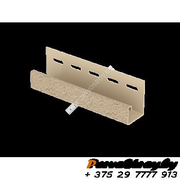 J-планка Ю-Пласт, S-Lock Клинкер Песочный - изображение 1