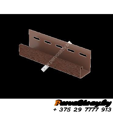 J-планка Ю-Пласт, S-Lock Клинкер Терракотовый - изображение 1