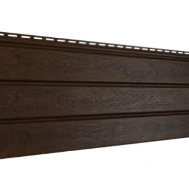 Софит Ю-Пласт PRO, Орех тёмный с частичной перфорацией - изображение 1