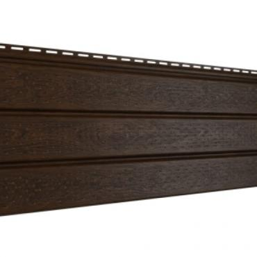 Софит Ю-Пласт PRO, Орех тёмный с полной перфорацией - изображение 1