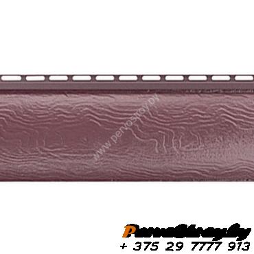 Виниловый сайдинг Альта Профиль Blockhouse (Блокхаус - под бревно), однопереломный, Красно-коричневый - изображение 1