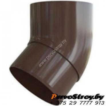 Колено трубы  Альта-профиль Элит  ПВХ коричневое 45° - изображение 1