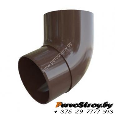 Колено трубы Альта-профиль Элит   ПВХ коричневое 67° - изображение 1