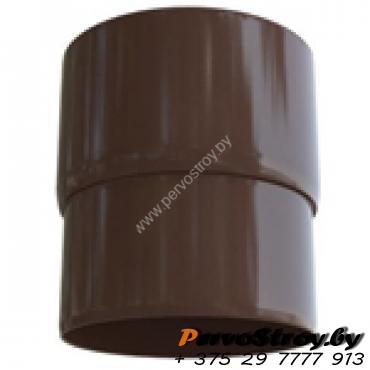 Муфта трубы Альта-профиль Элит   ПВХ коричневая - изображение 1