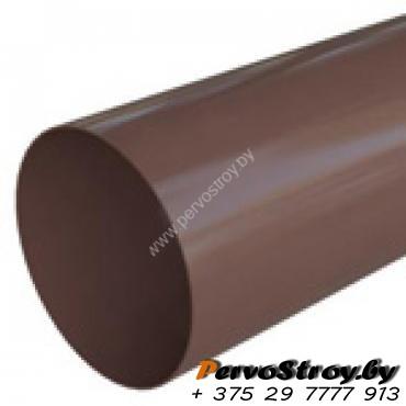 Труба водосточная Альта-профиль Элит  ПВХ коричневая 4м - изображение 1