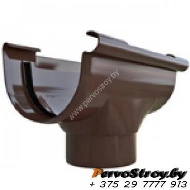 Воронка ПВХ Альта-профиль Элит  коричневая 82 мм - изображение 1