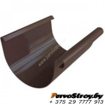 Желоб ПВХ  Альта-профиль Элит    коричневый 4м - изображение 1